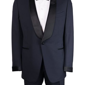 Tom Ford Navy Wool Satin Shawl Lapel O'Connor Tuxedo