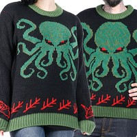 Cthulhu Lovecraft Sweater | Blame Betty