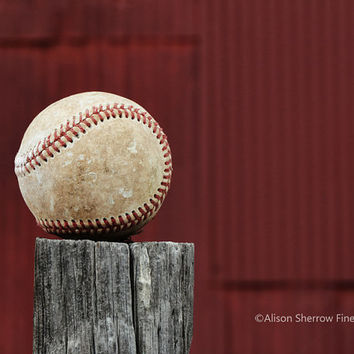 Sports Photography, Baseball Picture, Rustic Home Decor, Boys Room, Man Cave Art  |'All American'
