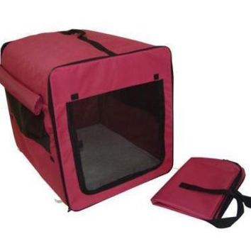 """X Large 36"""" Dog Cat Pet Bed House Soft Carrier Crate Cage Playpen w/Case XL 68"""