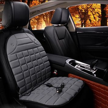 Electric Heated car seat Cushion Winter Car Covers Pad Car Heated Seat Covers Universal Conjoined Supplies Black Gray