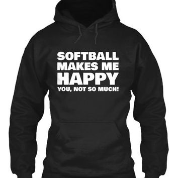 Softball Makes Me Happy Shirt