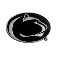 Penn State Nittany Lions NCAA Chrome Car Emblem (2.3in x 3.7in)