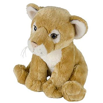 "11"" Cougar or Lioness Lion Cub Stuffed Animal Plush Floppy Zoo Species Collection"