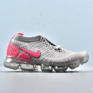 Nike Air VaporMax Grey Pink Toddler Kid Running Shoes Child Sneakers