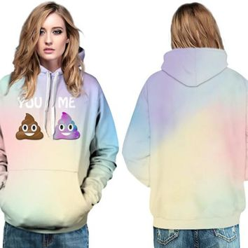KAWAII Women Autumn Winter Sweatshirt Cute Emoji Skateboard Hoodies Full Sleeve Coat 3D Print Mr Goo Pullover Hooded Sweatshirts