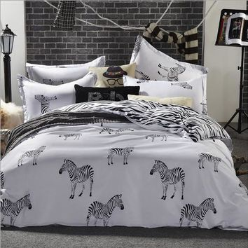 New Arrive  Home Textiles zebra bedding set Super King /King / Queen / Full/ Twin size bedding set 3Pcs/4Pcs bedding set
