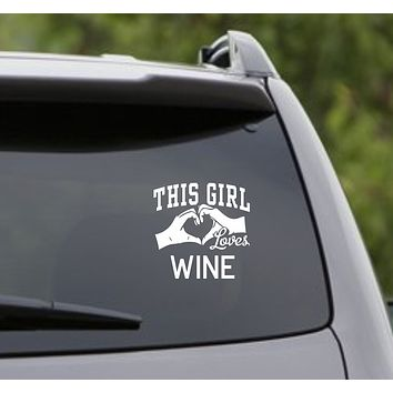 This Girl Loves Wine Decal Sticker Car Window Truck Laptop