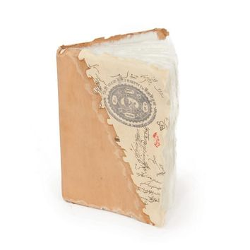 Small Vintage Stamp Notebook- Set Of 2