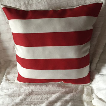 """Red White Stripe Pillow (BUY TWO Get A 10"""" x 17"""" FREE)"""