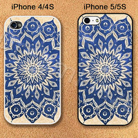 Blue Pattern iPhone 4 Case, iPhone 4S Case, iPhone 5 Case, iPhone 5S Case, Cover for iphone, Please Choose Case Model