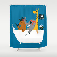Everybody wants to be the pirate Shower Curtain by Budi Satria Kwan