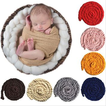 Hot sale The European and American elements newborn photography props Cute Hand-woven twist blankets baby art props
