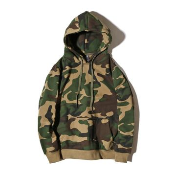 YouthCodes USA Army Skulls Devil Hoodies Men Brand Cotton 100% Camo Military Camouflage Kanye West Season2 Sweatshirt Men 2018AW