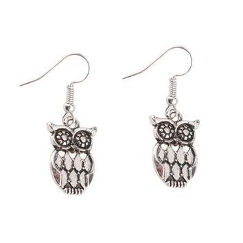 Retro Style Owl Pendant Earrings
