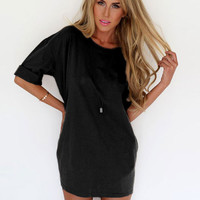 Half Sleeve Chiffon Mini Dress