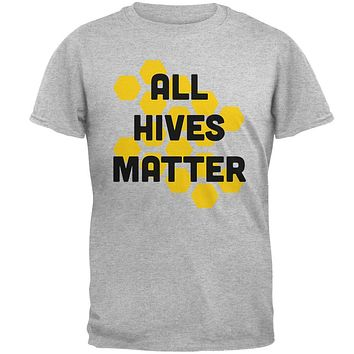 Honey Bee All Hives Matter Honeycomb Mens Soft T Shirt