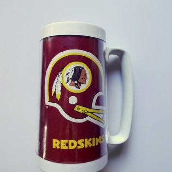 Vintage Washington Redskins ThermoServ Plastic Mug 1980s
