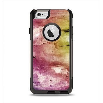 The Pink-Yellow-Blue Grunge Painted Surface Apple iPhone 6 Otterbox Commuter Case Skin Set