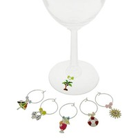 Summer Time Wine Charms-Set of 6