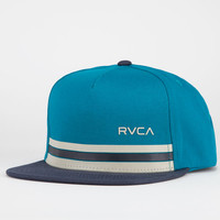 Rvca Barlow Twill Mens Snapback Hat Teal Blue One Size For Men 21526124601