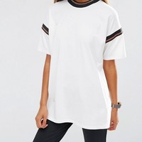 ASOS | ASOS T-Shirt With Stripe Tipping at ASOS