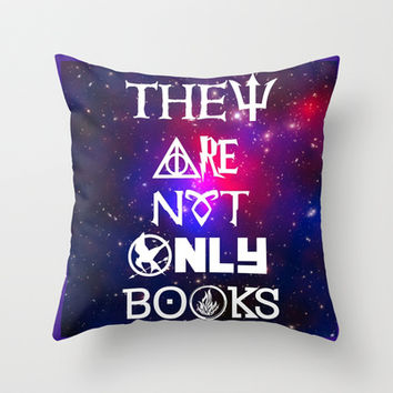 Not only Books Throw Pillow by FANDOM FUSION