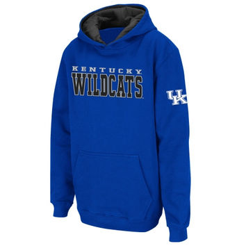Kentucky Wildcats Youth 2 Stack Pullover Hoodie Sweatshirt - Royal Blue - http://www.shareasale.com/m-pr.cfm?merchantID=7124&userID=1042934&productID=520899634 / Kentucky Wildcats