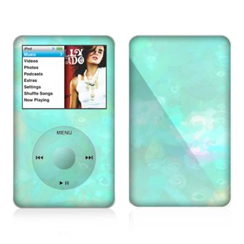 The Bright Teal WaterColor Panel Skin For The Apple iPod Classic