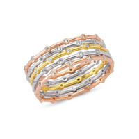 Amorium Single or Stacked Gold Stone RIng