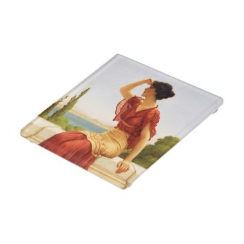 The Signal Godward Fine Art Vintage Painting Glass Coaster