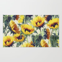 Sunflowers Forever Rug by Micklyn