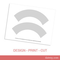 Instant Download: Cupcake Wrapper Template Printable - DIY Make Your Own Party Cupcake Wrapper Design Template by daintzy