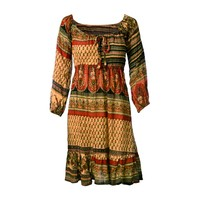 Bohemian Peasant Mini Dress