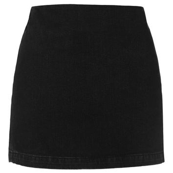 MOTO Denim Clean Pelmet Skirt - Topshop
