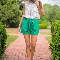 All Tied Up Shorts, Green
