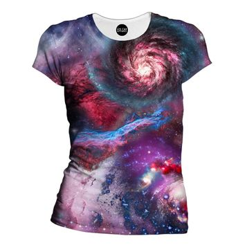 Galaxies Womens T-Shirt