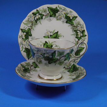 Royal Albert Vintage Ivy Lea Tea Cup and Saucer Plate Trio Set