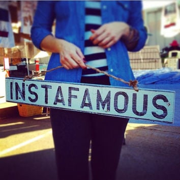 Instafamous Reclaimed Wood Sign