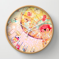 Joy Ride... Wall Clock by Lisa Argyropoulos