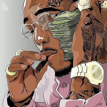 'QUAVO FROM MIGOS' Poster by Chiefrocka