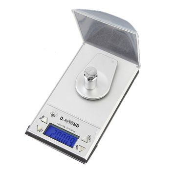 OUTAD High Precision Digital Jewelry Scale 50g x 0.001g LCD Lab Gold Herb Balance Blue Backlight Diamond Carat Electonic Scales
