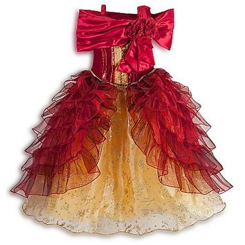 Disney Store Princess Belle Deluxe Holiday Costume Ball Gown Dress: Size XS 4