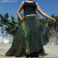 iOffer: HAND TIEDYE GYPSY BOHO HIPPIE WRAPAROUND SKIRT S M L XL for sale
