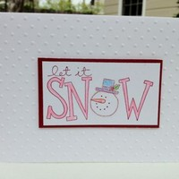 Let It Snow Winter Holiday Handmade Card