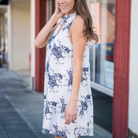 Almost Home Dress, Navy