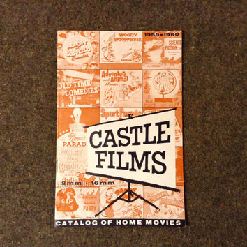 1959 - 1960 Castle Films 8mm 16mm Catalog of Home Movies 24 pages.