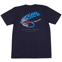Old Glory Fly T-Shirt in Navy by Collared Greens