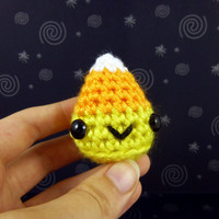 Limited Edition - Halloween Candy Corn - Ready to Ship - Amigurumi Crochet Plushie