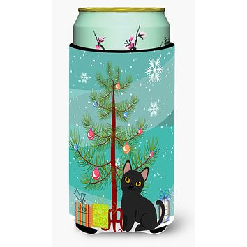 Bombay Cat Merry Christmas Tree Tall Boy Beverage Insulator Hugger BB4417TBC